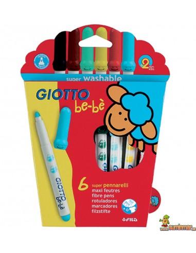 Rotuladores Giotto be-bè para niños 6 colores