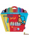 Rotuladores Giotto be-bè para niños 12 colores