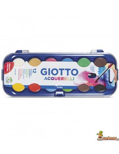 Acuarelas Giotto estuche y pincel 12 ud