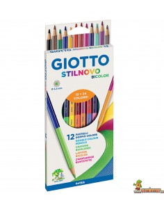 Giotto Stilnovo bicolor 12 lápices de 2 colores