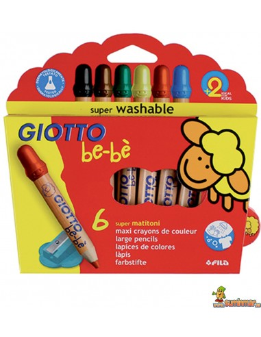 Lápices de colores Giotto be-bè 6 colores