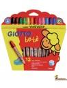 Lápices de colores Giotto be-bè 12 colores