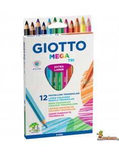 Lápices de colores Giotto Mega Tri 12 ud