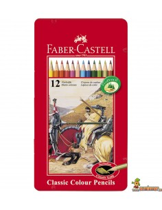 Lápices de colores Faber Castell estuche de metal 12 colores