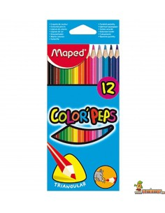 Lápices de colores Color Peps Maped triangulares 12 ud