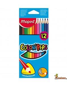 Lápices de colores Color Peps Maped triangulares 12 ud