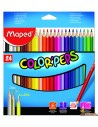 Lápices de colores Color Peps Maped triangulares 24 ud