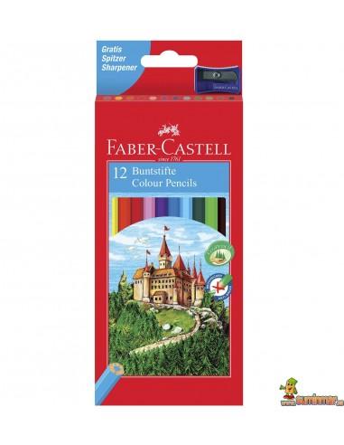 Lápices de colores Faber Castell corte hexagonal 12 uds