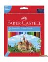 Lápices de colores Faber Castell corte hexagonal 24 uds