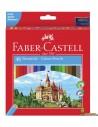 Lápices de colores Faber Castell corte hexagonal 48 uds
