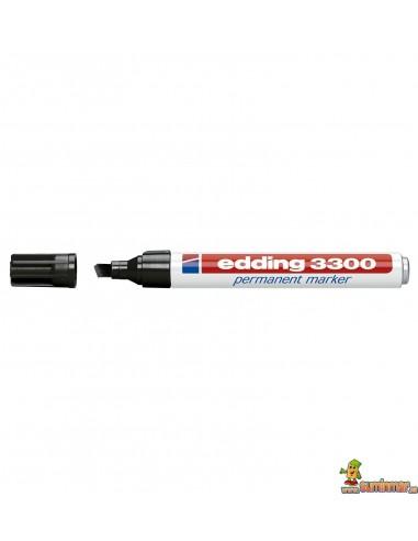 Edding 3300 Marcador Permanente de punta biselada negro