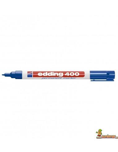 Edding 400 Marcador Permanente de punta fina azul
