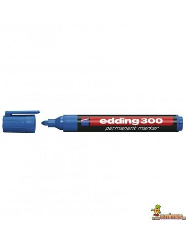 Edding 300 Marcador Permanente de punta redonda color azul