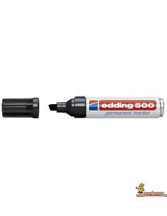 Edding 500 Marcador Permanente de punta biselada negro