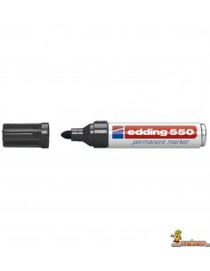 Edding 550 Marcador Permanente de punta redonda negro