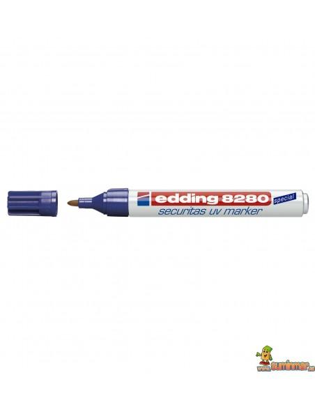 Edding 8280 Tinta especial ultravioleta. Marcador de seguridad