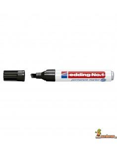 Edding  Nº 1 Marcador Permanente de punta biselada negro