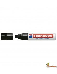 Edding 800 Marcador Permanente de punta biselada superancha negro