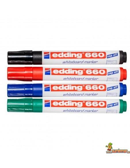 Edding 660 Rotulador para pizarra blanca con punta redonda