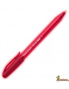 Bolígrafo Paper Mate Inkjoy mini punta media rojo