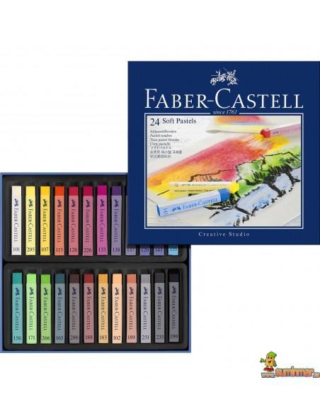 Pasteles blandos Faber-Castell 12 y 24 uds