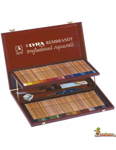 Lápices policromos acurelables LYRA Rembrandt Aquarell Estuche de 96 piezas