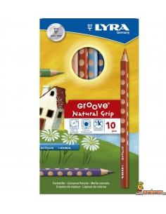 Lápices de colores LYRA Groove 10 colores