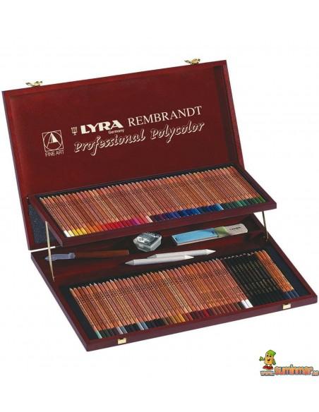 LYRA Rembrandt Polycolor Estuche de 96 lápices de colores