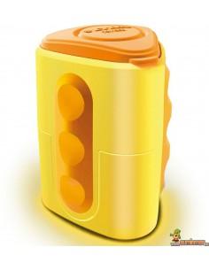 Sacapuntas LYRA Groove doble agujero y depósito Color Amarillo