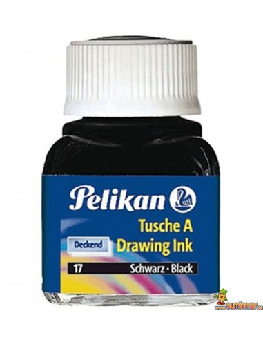 Tinta china Pelikan 17 negro 10ml