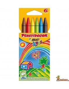 Ceras Plastidecor para niños, 6 colores
