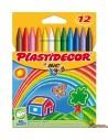 Ceras Plastidecor para niños, 12 colores
