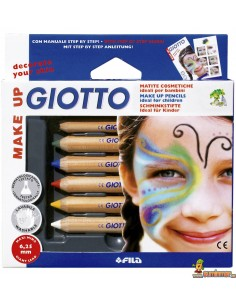 Lápices Pintacaras para niños Giotto Make Up Set 6 Colores