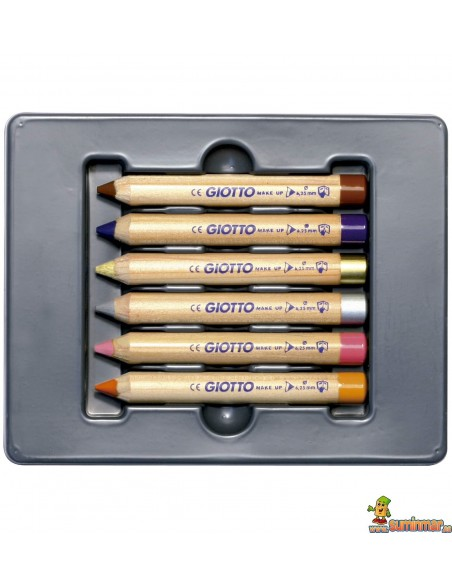 Lápices Pintacaras Giotto Make Up Set 6 Colores Fantasía