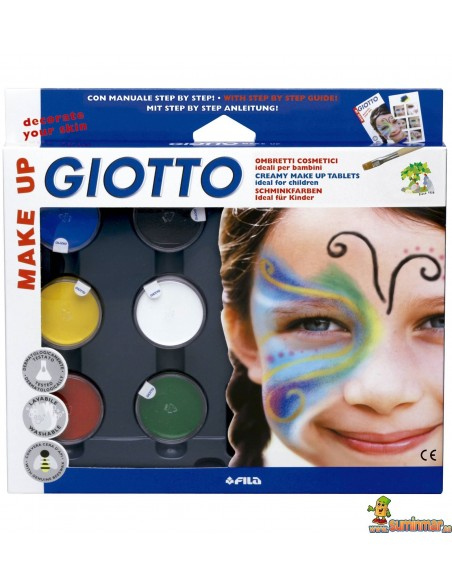 Sombras Maquillaje Giotto Make Up Set 6 Colores