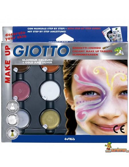 Sombras Maquillaje Giotto Make Up Set 6 Colores Fantasía