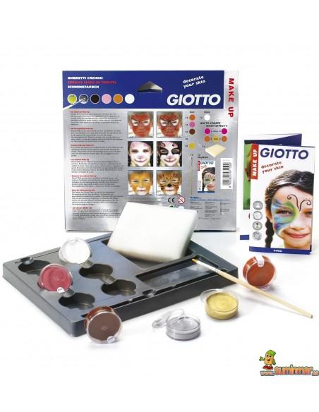 Sombras Pintacaras Giotto Make Up Set 6 Colores Fantasía