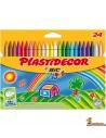 Ceras Plastidecor para niños, 24 colores