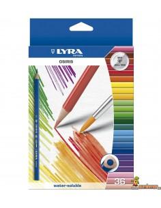 LYRA Osiris Aquarell Caja de 36 Lápices de Colores Acuarelables