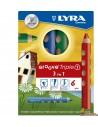 Lápices de colores Lyra Groove Triple 3 en 1 Caja 6 colores