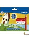 Lápices de colores Lyra Groove Triple 3 en 1 Caja 12 colores