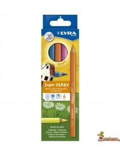 Lyra Super Ferby Neon 6 Lápices de Colores Neon