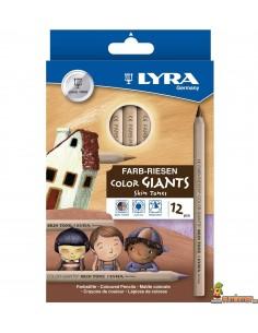 Lápices LYRA Color Giants Skin Tones en las tonalidades de la piel