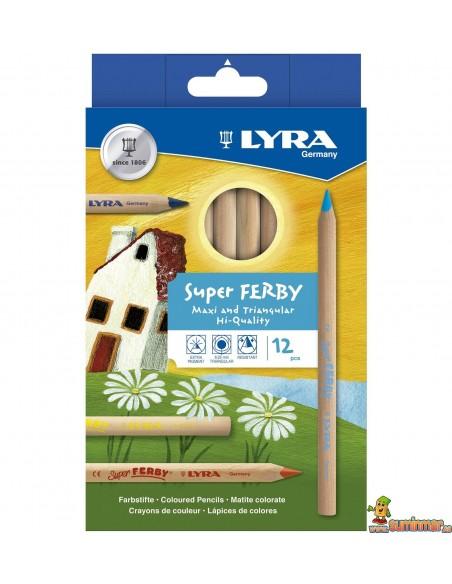 LYRA Super Ferby Natural Caja de 12 lápices de colores