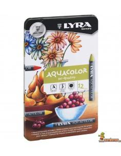 Ceras Acuarelables Lyra Aquacolor 12 uds