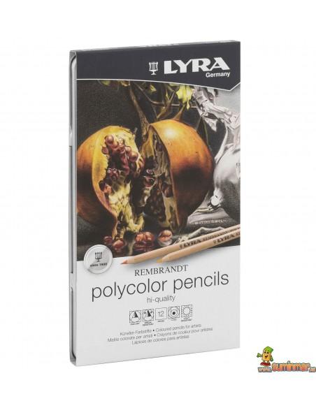 Lápices policromos LYRA Rembrandt Polycolor 12 piezas