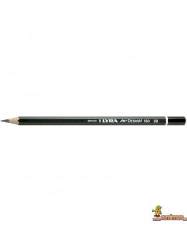 Lápiz De Grafito Lyra Rembrandt Art Design 9B