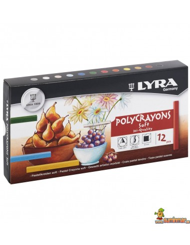Tiza Pastel LYRA Polycrayons Soft 12ud