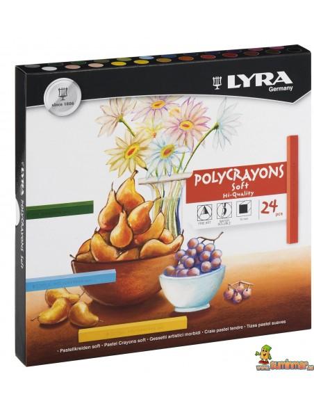 Tiza Pastel LYRA Polycrayons Soft 12 y 24 uds