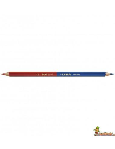 Lápiz azul y rojo LYRA Duo Slim
